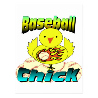 Baseball Chick Postcard