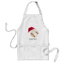 baseball christmas adult apron