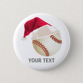 baseball christmas button