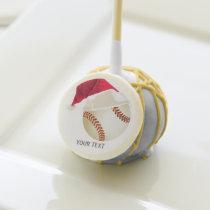 baseball christmas cake pops