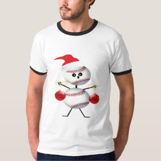 Baseball Christmas Cartoon T-Shirt