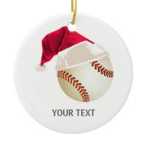 baseball christmas ceramic ornament