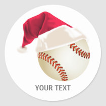 baseball christmas classic round sticker