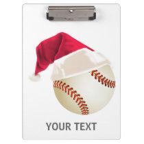baseball christmas clipboard