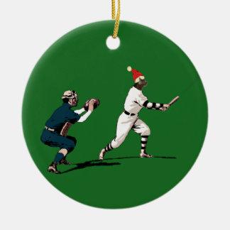 baseball christmas gift ceramic ornament