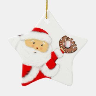 baseball Christmas gift Double-Sided Star Ceramic Christmas Ornament