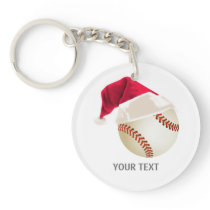 baseball christmas keychain