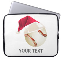 baseball christmas laptop sleeve