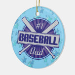Baseball Christmas Ornament, #1 Baseball Dad
