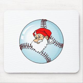 Baseball Christmas Santa Claus Mouse Pad