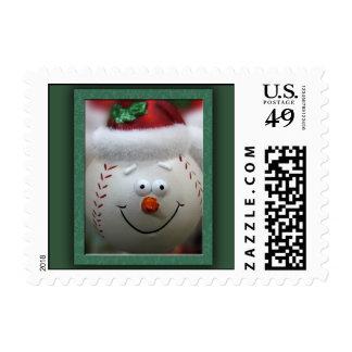 Baseball Christmas Stamp