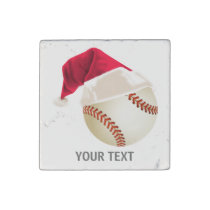 baseball christmas stone magnet