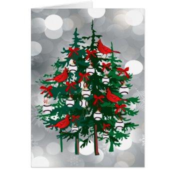 Baseball Christmas Tree Card