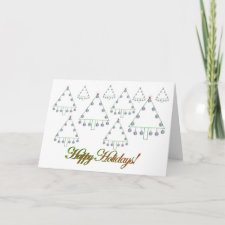 Baseball Christmas Tree Farm Card card