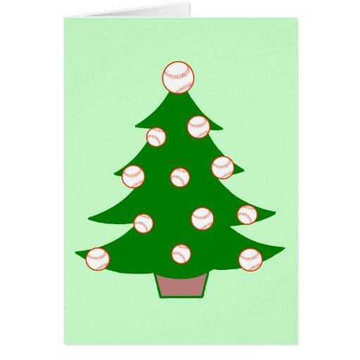 Baseball Christmas Tree Greeting Card