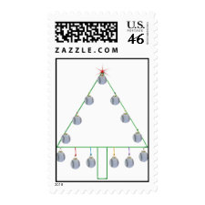 Baseball Christmas Tree Postage stamp