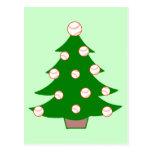 Baseball Christmas Tree Postcard