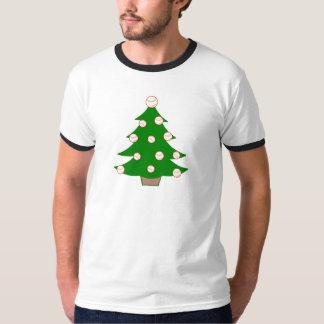 Baseball Christmas Tree T-Shirt