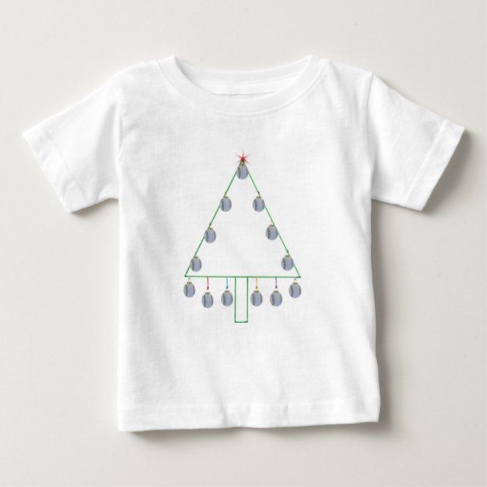 Baseball Christmas Tree Tee
