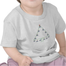 Baseball Christmas Tree Tee shirt