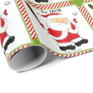 Baseball Christmas Wrapping Paper