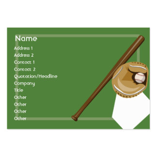 Baseball - Chubby Large Business Cards (Pack Of 100)