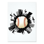 Baseball City 5x7 Paper Invitation Card