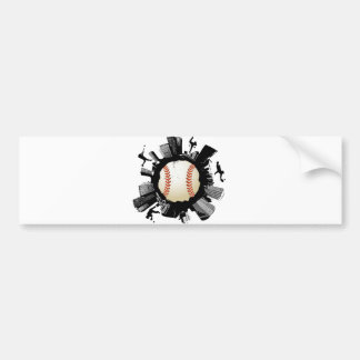 Baseball City Bumper Sticker