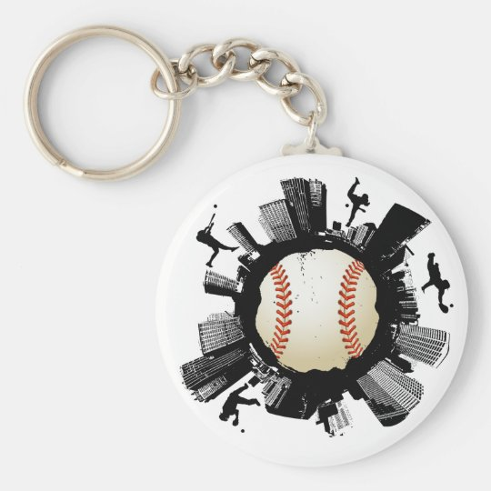 Baseball City Keychain