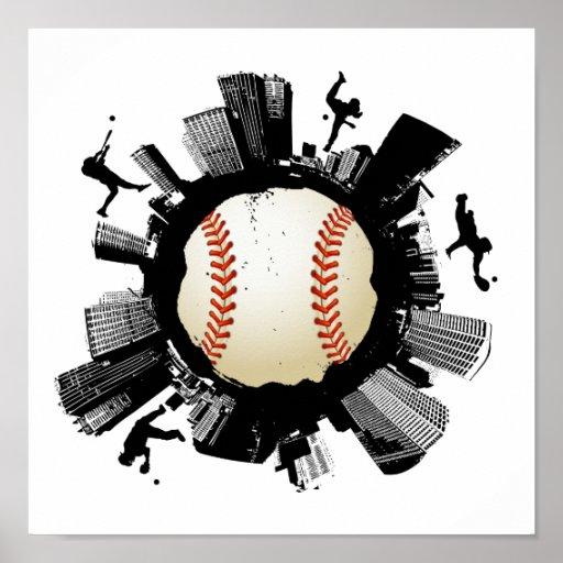 Baseball City Poster