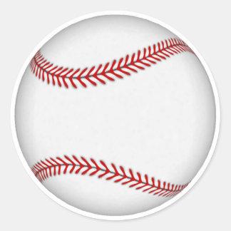 Baseball: Classic Round Sticker
