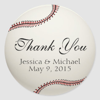 Baseball Classic Round Sticker