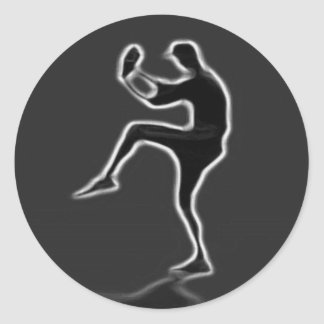 BASEBALL Classic Round Sticker Make yours unique