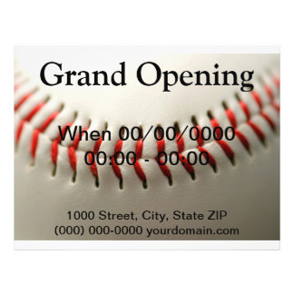Baseball close up flyer