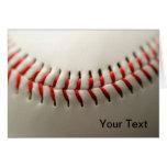 Baseball close up greeting cards