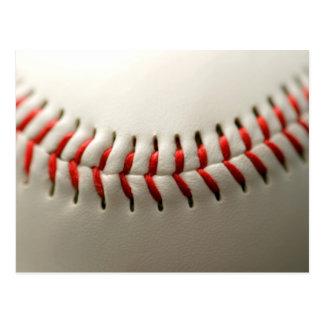 Baseball close up postcard