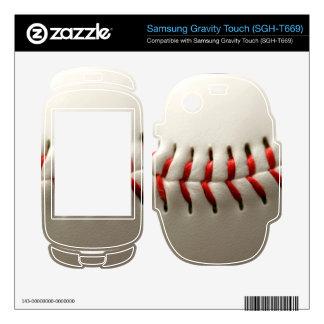 Baseball close up samsung gravity touch skin