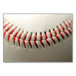 Baseball close up table cards