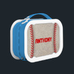 "Baseball Closeup Yubo Lunchbox<br><div class=""desc"">A cool baseball closeup lunchbox that&#39;s great for a boy or tomboys. Super fun and sporty.</div>"