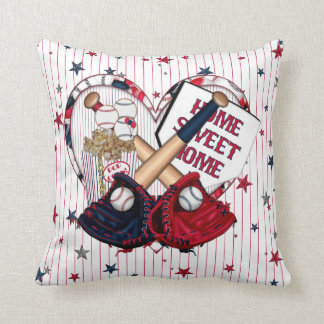 Baseball Cluster 01-Square Throw Pillow
