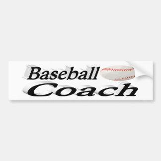 Baseball Coach 3D Bumper Sticker
