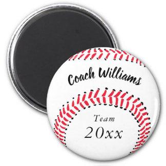 Baseball Coach Add Name, Team and Year Magnet