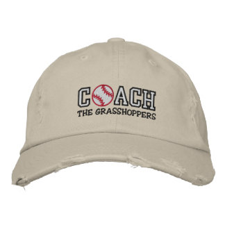 Baseball Coach (add your team name) Embroidered Hats
