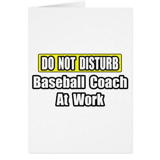 Baseball Coach At Work Card