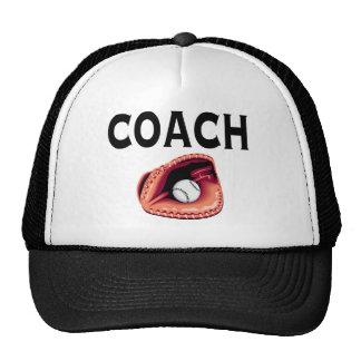Baseball Coach (Ball and Glove) Mesh Hats