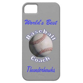 Baseball Coach Blue on Away Grey iPhone SE/5/5s Case