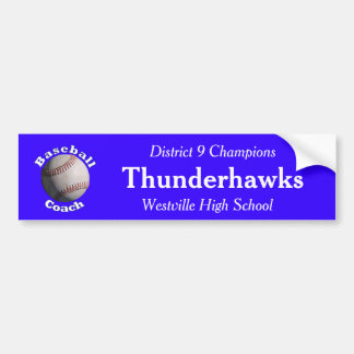 Baseball Coach Car Bumper Sticker