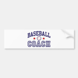 Baseball Coach Bumper Sticker