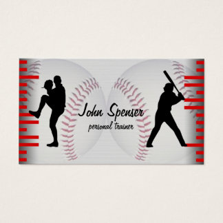 Baseball Coach Business Card