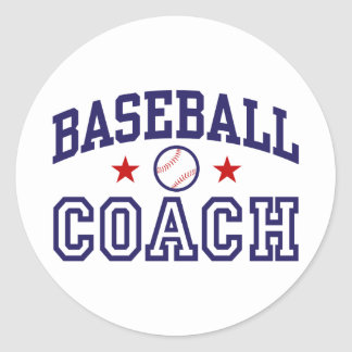 Baseball Coach Classic Round Sticker